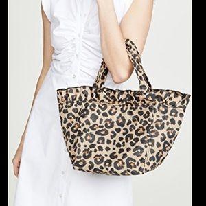 Loeffler Randall leopard tote NWT